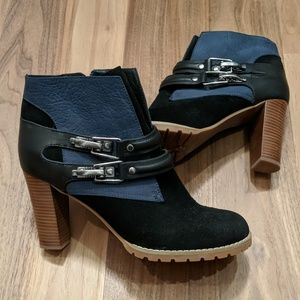 See by Chloe NWOB 39&1/2 leather and suede booties